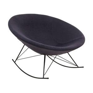 Czarny fotel na biegunach House Nordic Kissa