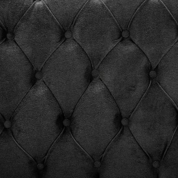 Ciemnoszare łóżko z naturalnymi nóżkami Vivonita Allon, 140x200 cm