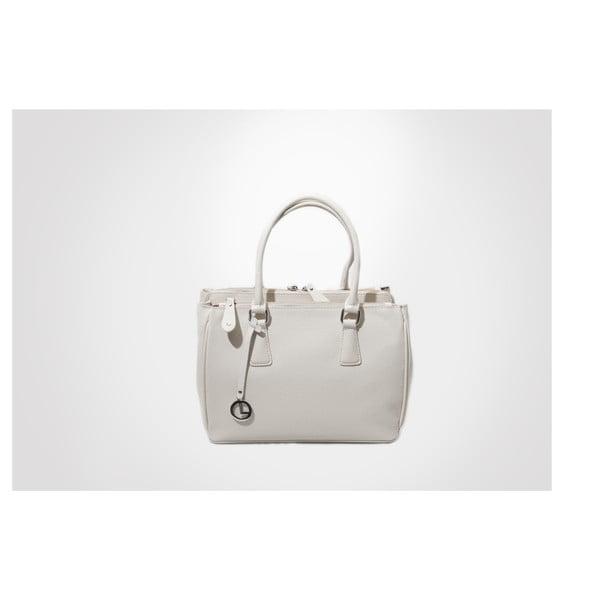 Skórzana torebka Lily, ivory