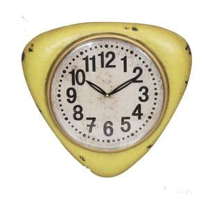 Żółty zegar ścienny Antic Line Yellow Vintage