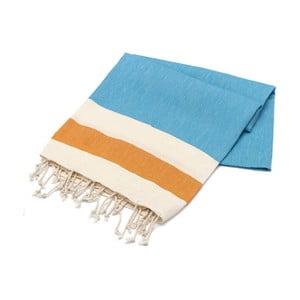 Ręcznik hammam American Stripes Turqoise, 100x180 cm