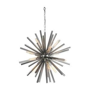 Srebrna lampa wisząca Artelore Silves, Ø75cm