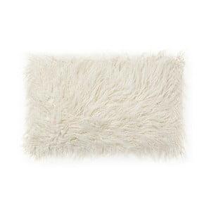 Biała poduszka ze sztucznej skóry La Forma Brock,40x60cm