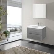 Szafka do łazienki z umywalką i lustrem Flopy, odcień szarości, 70 cm