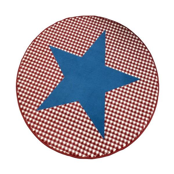 Dywan City & Mix - niebieska gwiazda, 140 cm