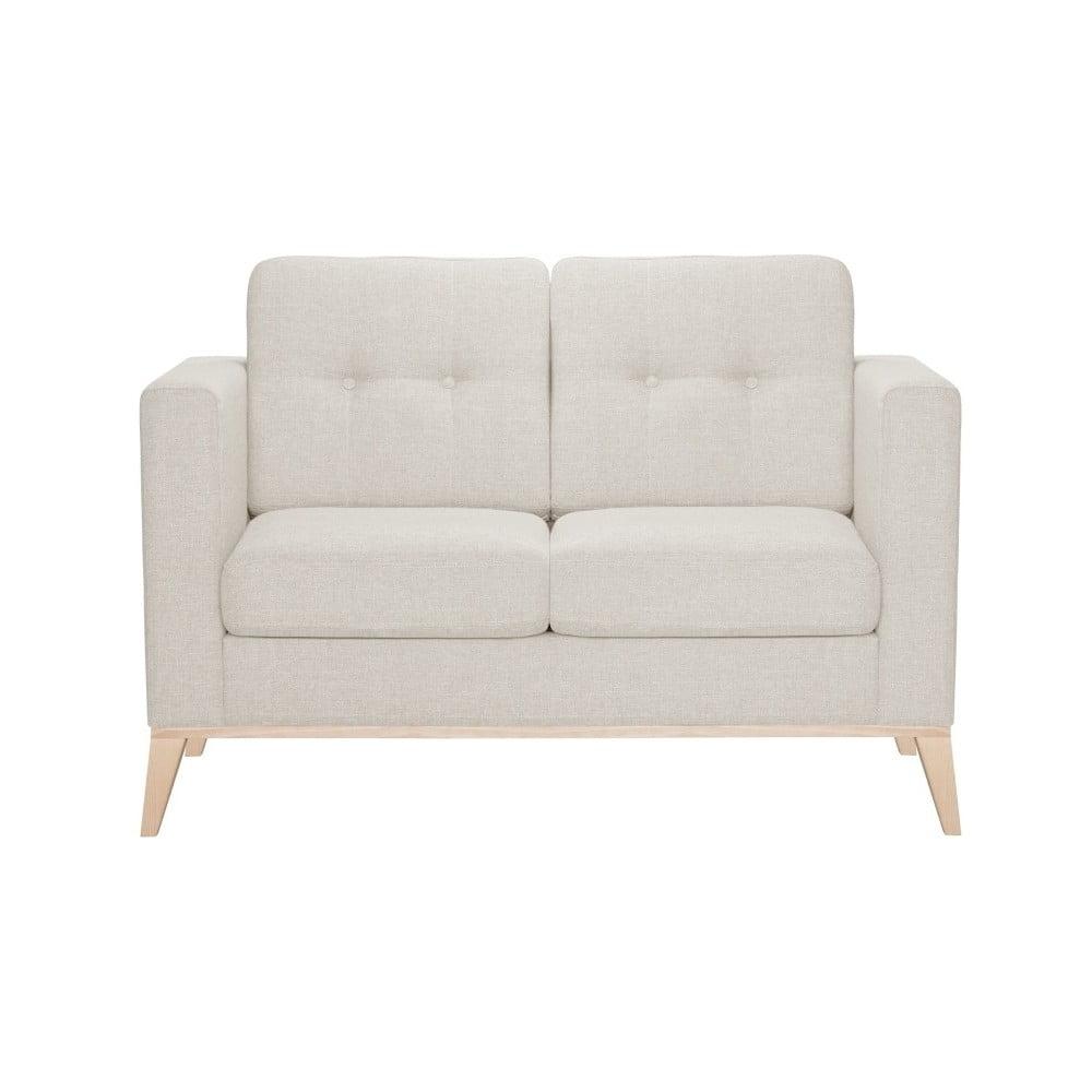 Kremowa sofa 2-osobowa Stella Cadente Maison Recife