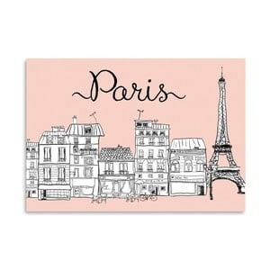 Plakat Americanflat Paris on Pink, 30x42 cm