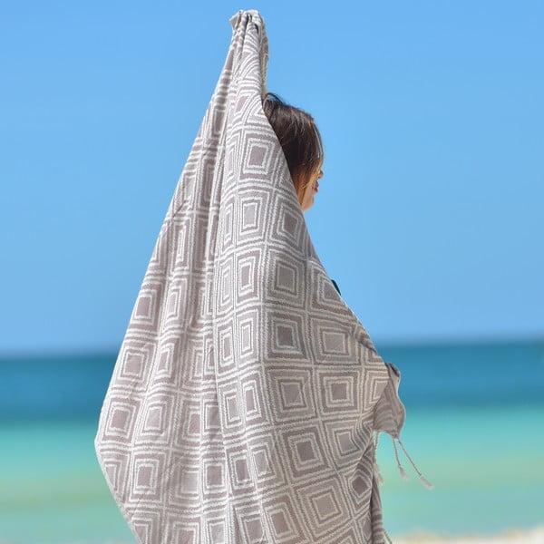 Ręcznik hammam Hanna, brązowy