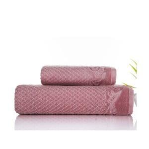Zestaw 2 ręczników Acustic Rose, 50x90 cm i 70x140 cm