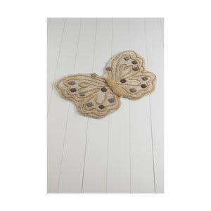 Dywanik łazienkowy Alessia Kelebek Brown, 70x120 cm