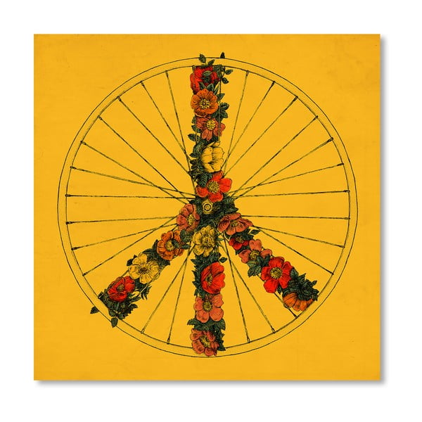 Plakat Peace And Bike, 30x30 cm