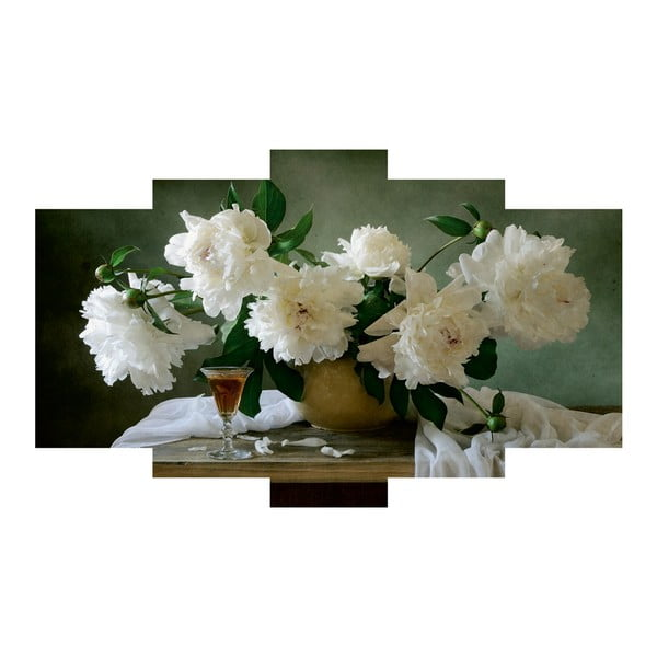 Pięcioczęściowy obraz Floral
