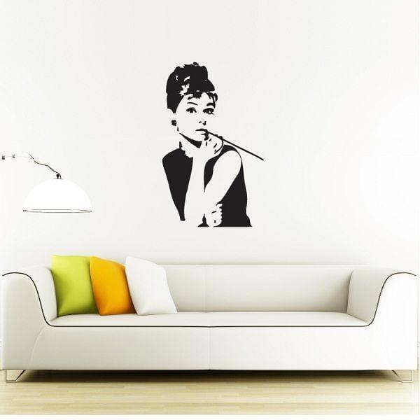 Naklejka Audrey Hepburn