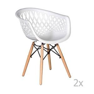 Zestaw 2 białych krzeseł Evergreen House René