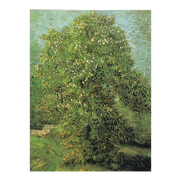 Obraz Vincenta van Gogha - Blossoming Chestnut Tree, 60x45 cm
