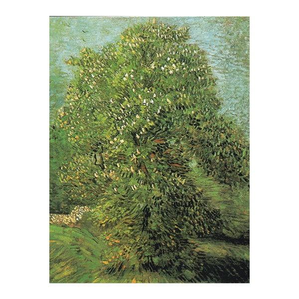 Obraz Vincenta van Gogha - Blossoming Chestnut Tree, 40x30 cm