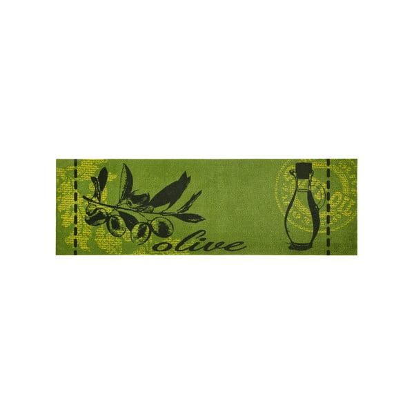 Zielony chodnik do kuchni Zala LivingOlive, 50x150cm