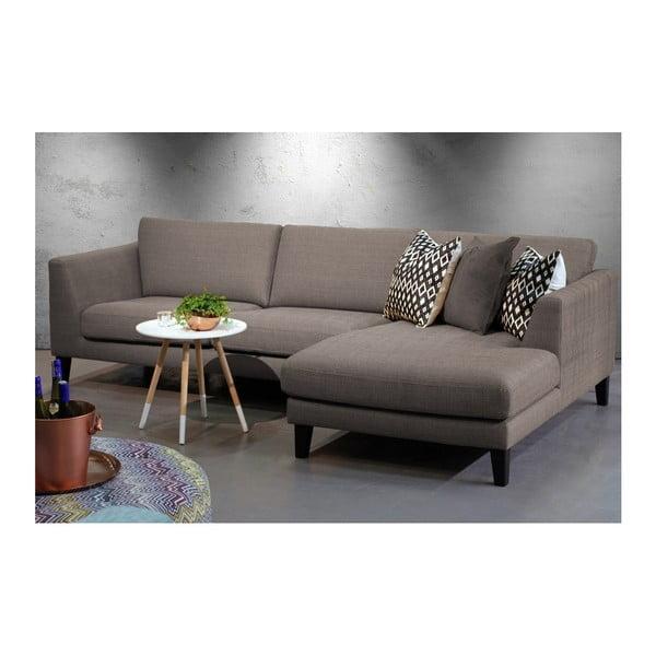 Brązowa sofa z szezlongiem po prawej stronie Vivonita Monroe