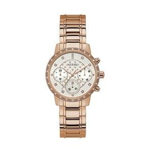 Zegarek damski w różowozłotym kolorze z paskiem ze stali nierdzewnej Guess W1022L3