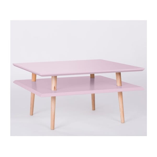 Stolik kawowy UFO Square Pink, 35 cm
