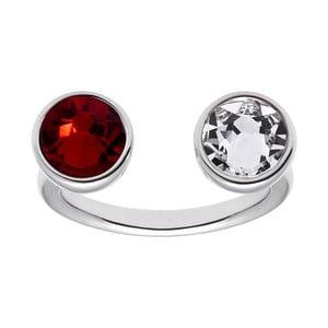 Pierścionek w kształcie U z czerwonym kryształem Swarovski® Gemseller