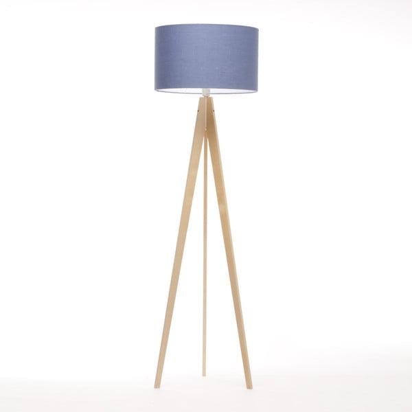 Niebieska lampa stojąca 4room Artist, naturalna brzoza, 150 cm