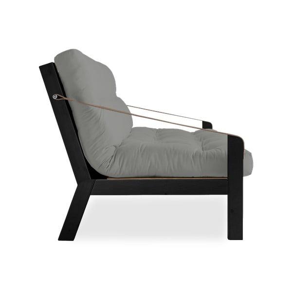 Sofa rozkładana Karup Poetry Black/Gris/Light Bordeaux