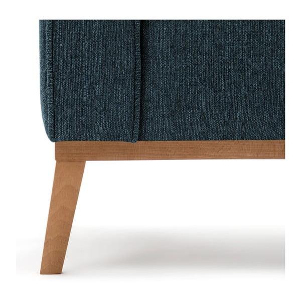 Niebieska prawostronna sofa narożna Vivonita Milton