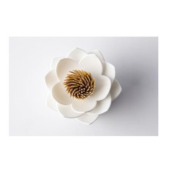 Pojemnik na wykałaczki QUALY Lotus Toothpick, czarny/biały