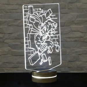 Lampa 3D stołowa Superman