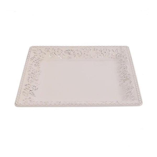 Talerz ceramiczny White Brushed, 32 cm