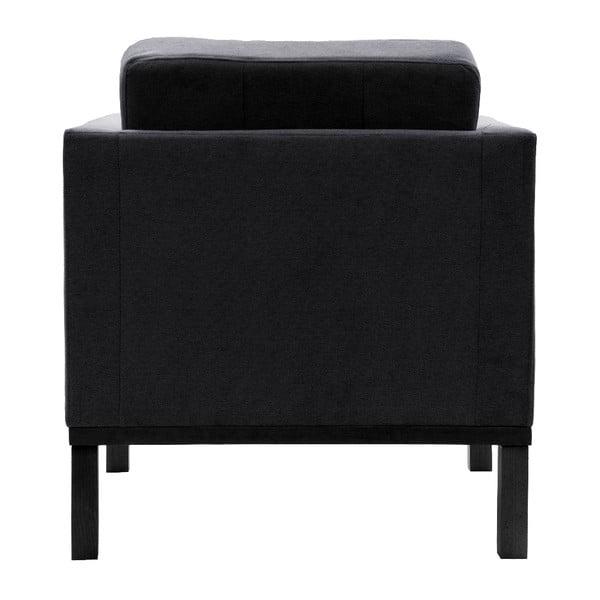 Fotel VIVONITA Jonan Dark Grey, czarne nogi