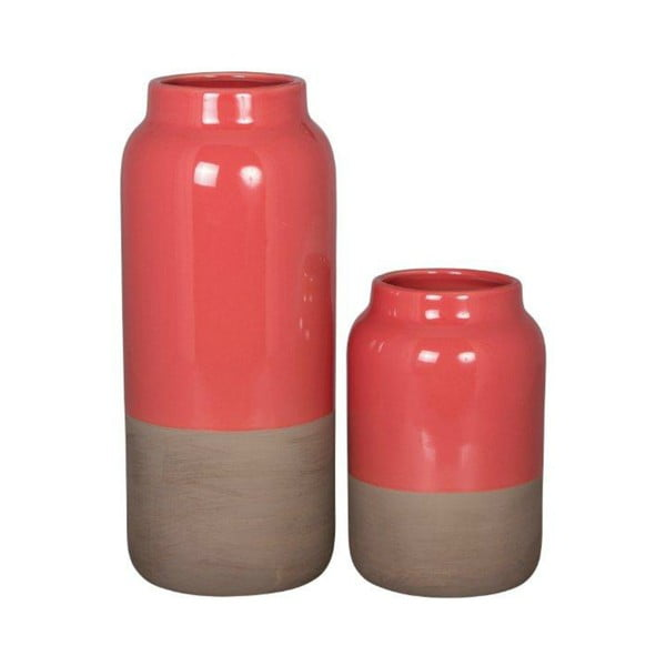 Zestaw wazonów Natural Rojo, 2 szt.