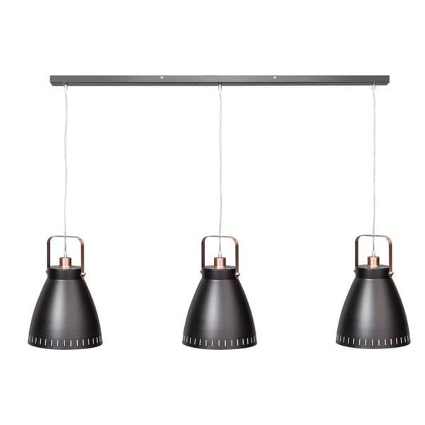Czarno-miedziana triojité lampa wisząca ETH Acate