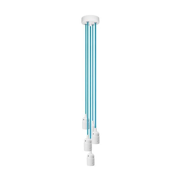 Pięć wiszących kabli Uno, niebieskie/białe