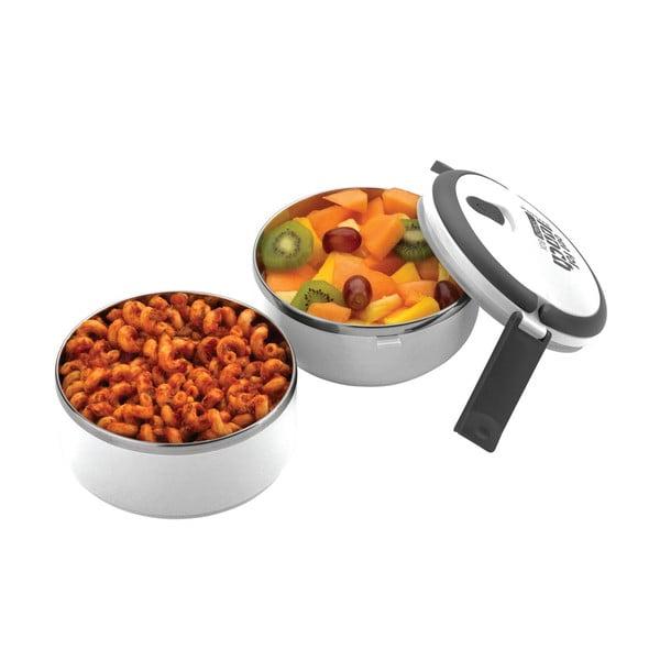Biały okrągły pojemnik na lunch Pioneer lunchbox