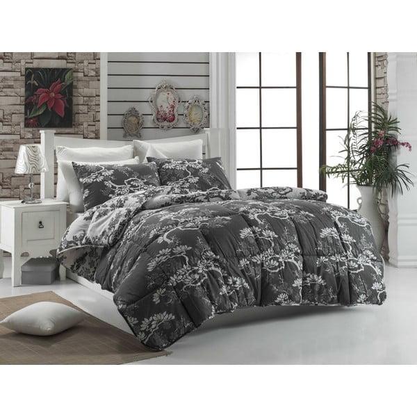 Narzuta pikowana na łóżko dwuosobowe Bonsai Grey, 195x215 cm