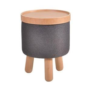 Szary stołek ze zdejmowanym blatem Garageeight Molde, ⌀35cm
