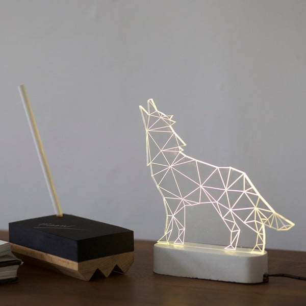 Lampka Wolf, szara podstawa