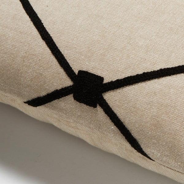 Czarna poduszka La Forma  Melrose, 30x50 cm