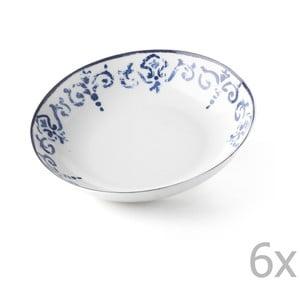 Zestaw 6 głębokich talerzy Antico Blue, 20.5 cm