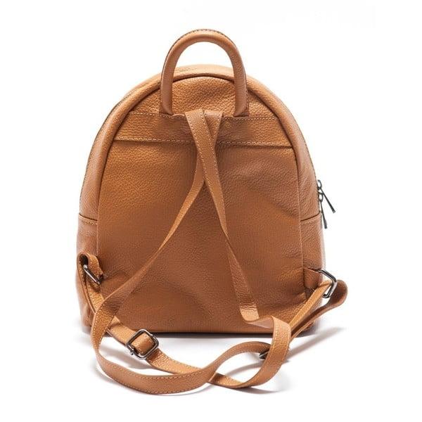 Skórzany plecaczek Mangotti 1166 Cognac