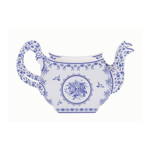 Papierowy wazon Porcelain Blue