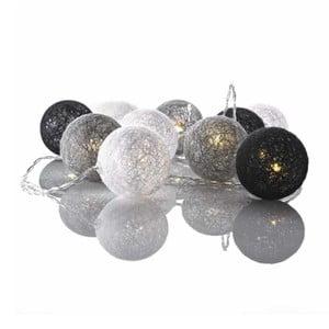Szaro-biała girlanda świetlna LED Markslöjd Twix Grey White