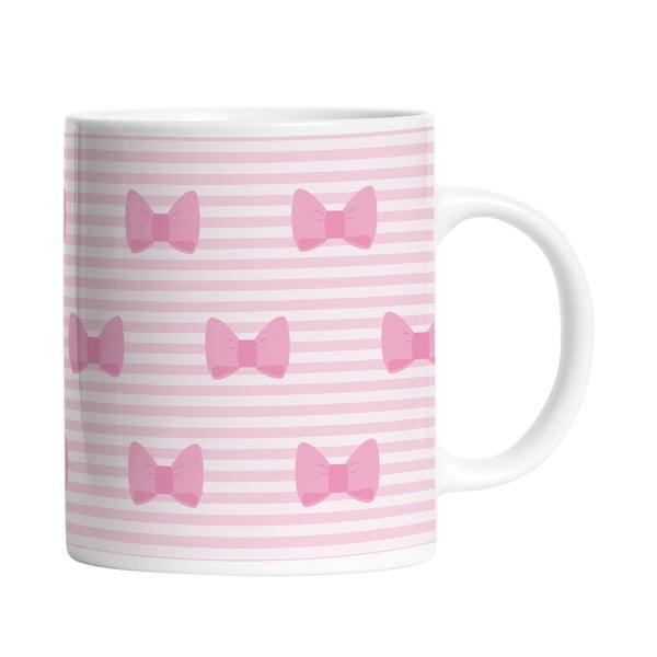 Ceramiczny kubek Pink Bows, 330 ml