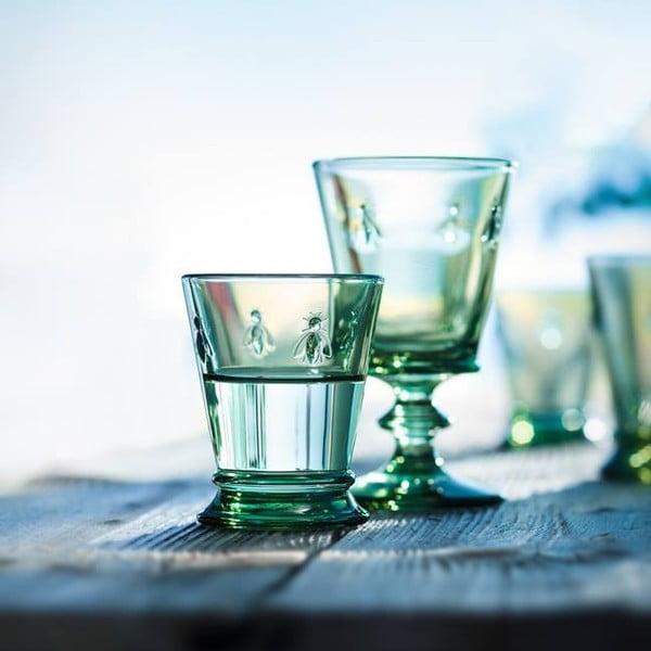 Zestaw 6 zielonych kieliszków do wina Abeile, 240 ml