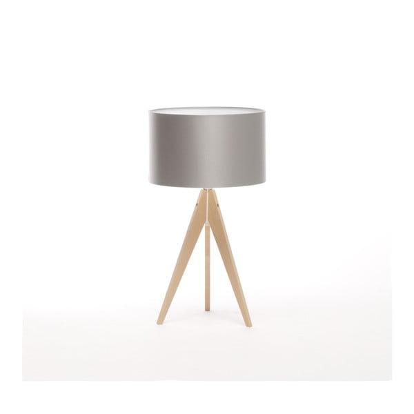 Srebrna lampa stołowa 4room Artist, brzoza, Ø 33 cm