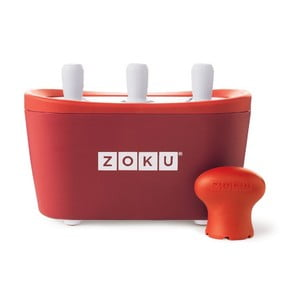Czerwona maszynka do lodów Zoku Quick Pop