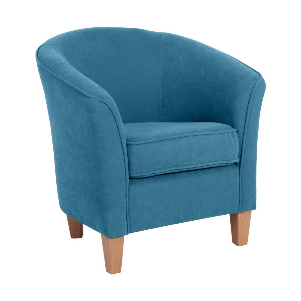 Niebieski fotel Max Winzer Livia