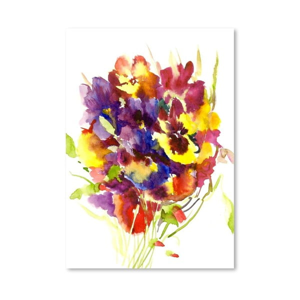 Plakat Colorful Pansies (projekt Suren Nersisyan)